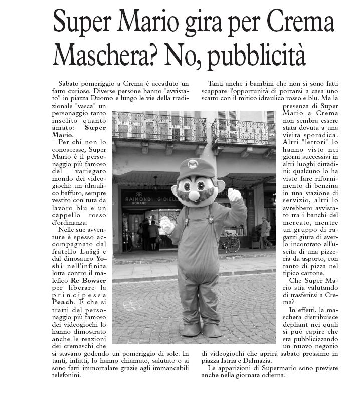 Ecco l'articolo apparso su Cronaca del 6 marzo 2011